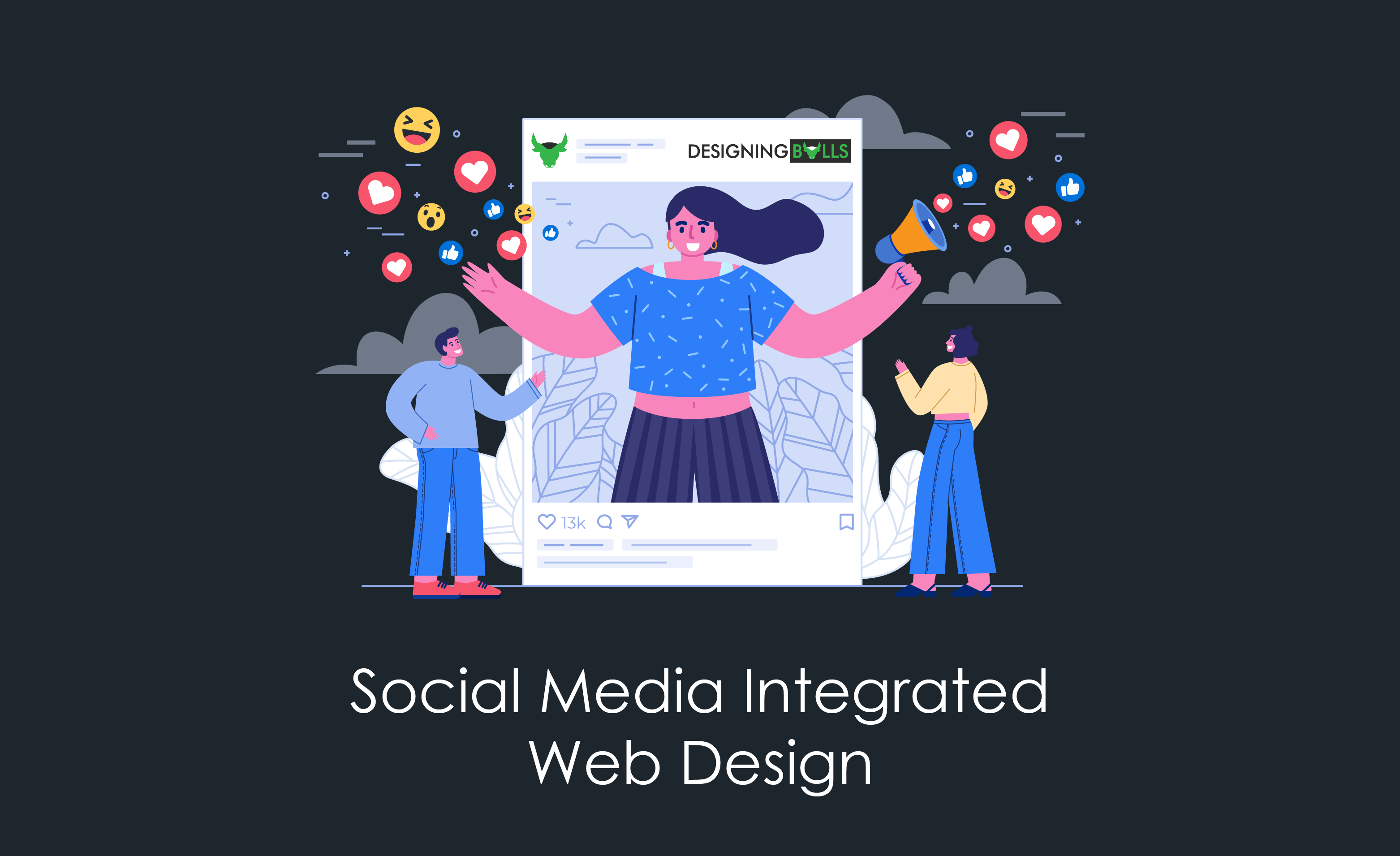 How to add social media integration in web design?