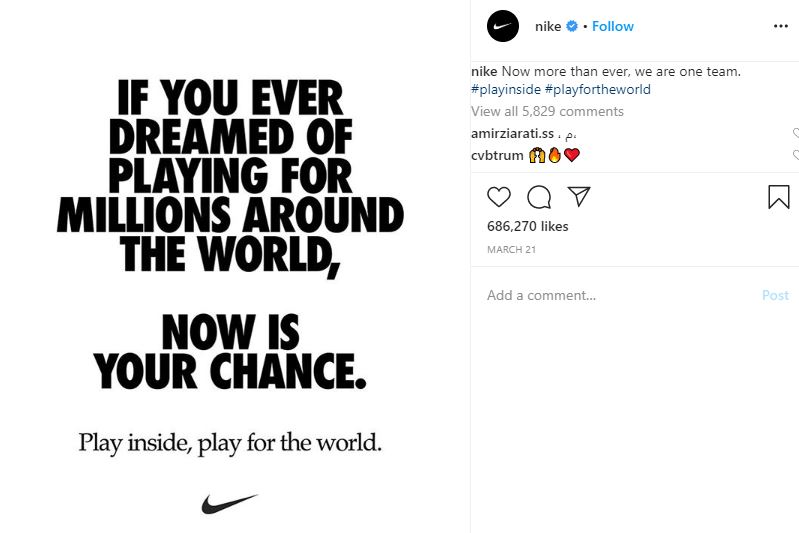 Here Are The Tips For Marketers In Pandemic Time, Nike